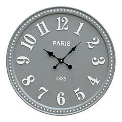 Grote grijze wandklok Paris 18031005