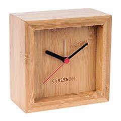 Karlsson wekker tafelklok bamboe KA5686