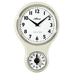 Keukenklok met timer nostalgisch 6124-0A