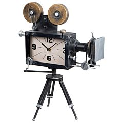 Tafelklok antieke filmcamera