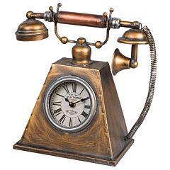 Antieke telefoon tafelklok 1803676320