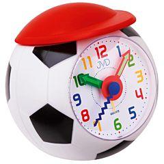 Voetbal wekker met rode pet SR819J