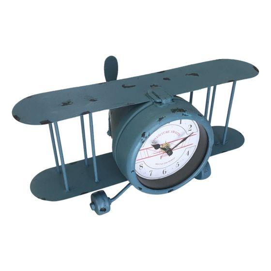Vliegtuig klok - tafelklok 18031077