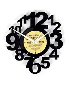 Lp klok met speelse cijfers